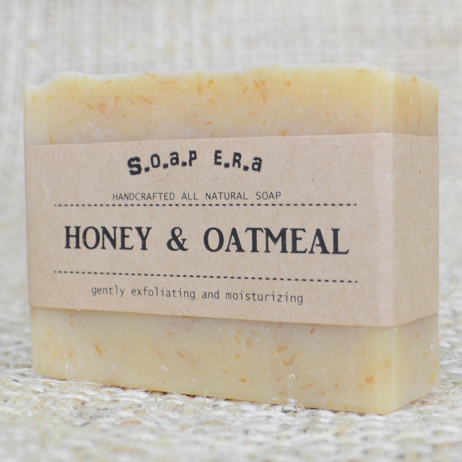 Honey Oatmeal gently exfoliating soap | SOAP ERA