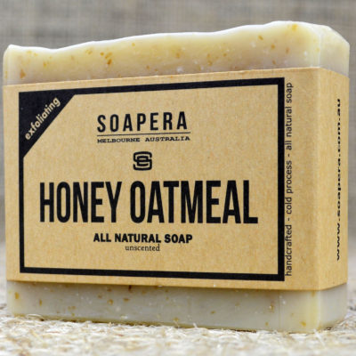 Honey Oatmeal gently exfoliating soap
