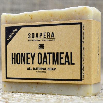 Honey Oatmeal gently exfoliating soap