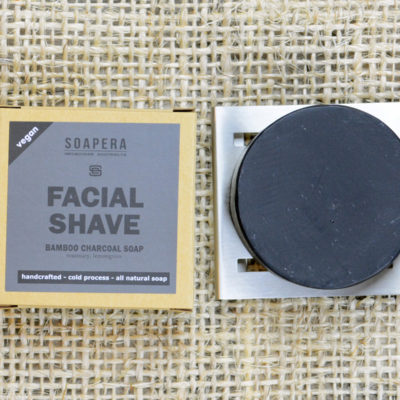 Bamboo Charcoal Facial Shaving Soap