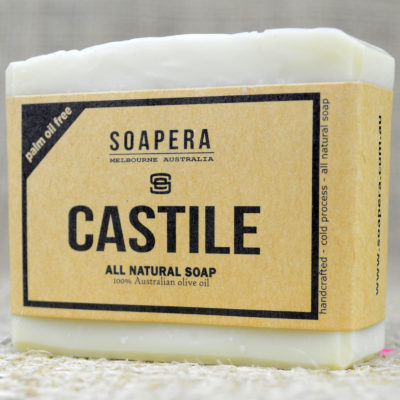 CASTILE SOAP made with 100% Australian Extra Virgin Olive Oil-Palm Oil free